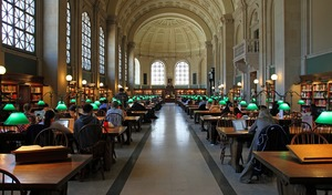 Sprachreisen Boston_Bibliothek